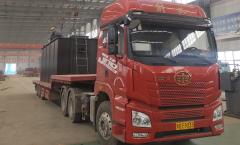 郑州中兴100吨 调节池正在装车!