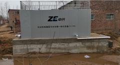 中兴100吨污水处理设备安装现场